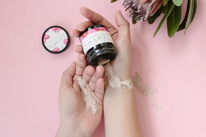 Pink Delight Clay Mask Powder - approx 10 masks per jar!