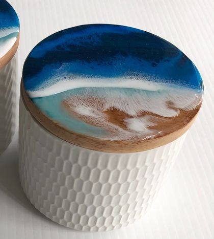 """Mellons Bay""  Ceramic Storage container"