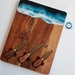 """Milford Beach"" Cheese Board & knife set,"