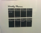 A3 Magnetic chalk board weekly planner