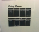 Magnetic blackboard fridge planner