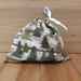 Fabric gift bag - Trees S