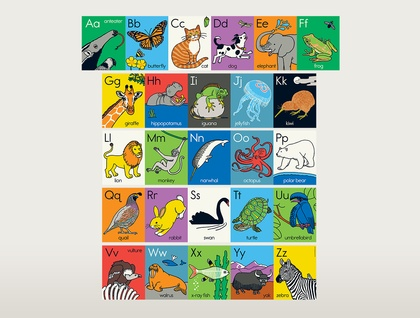 Animal ABC wall frieze