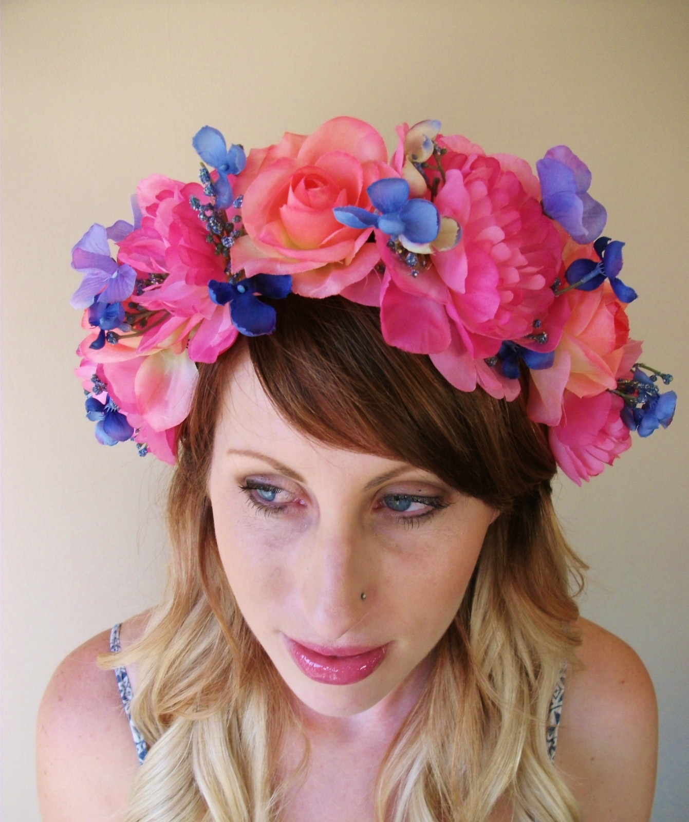 Peony Rose Hydrangeas Crown Floral Wreath Flower Crown Floral Crown Flora