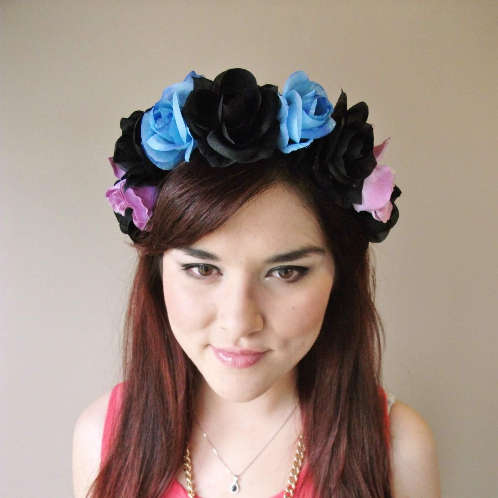 Alice In Wonderland Floral Headband Flower Crown Floral Crown