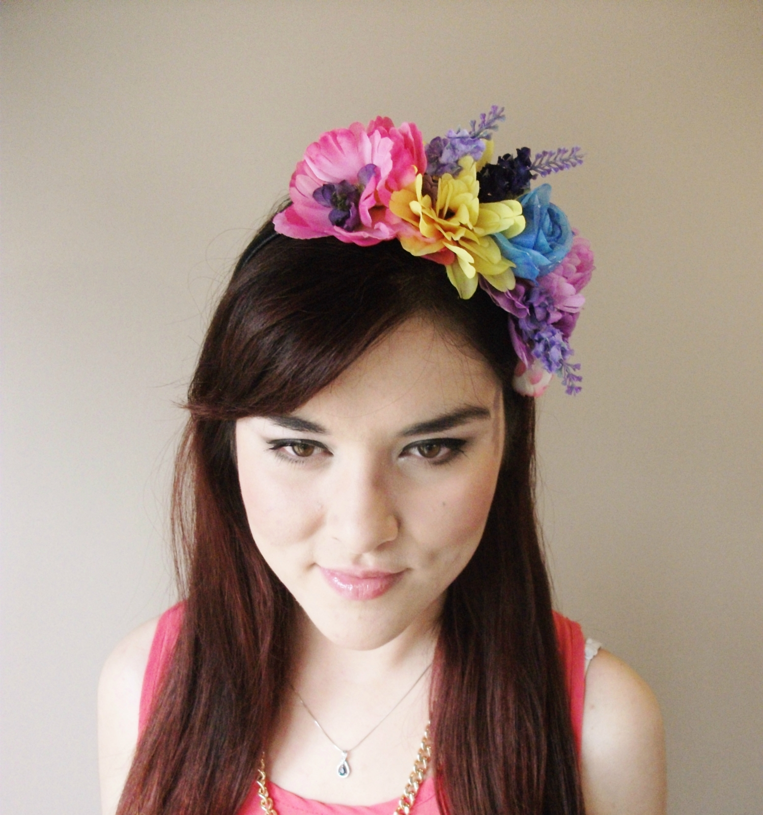 Tropical Floral Burst floral headband flower crown floral crown floral w