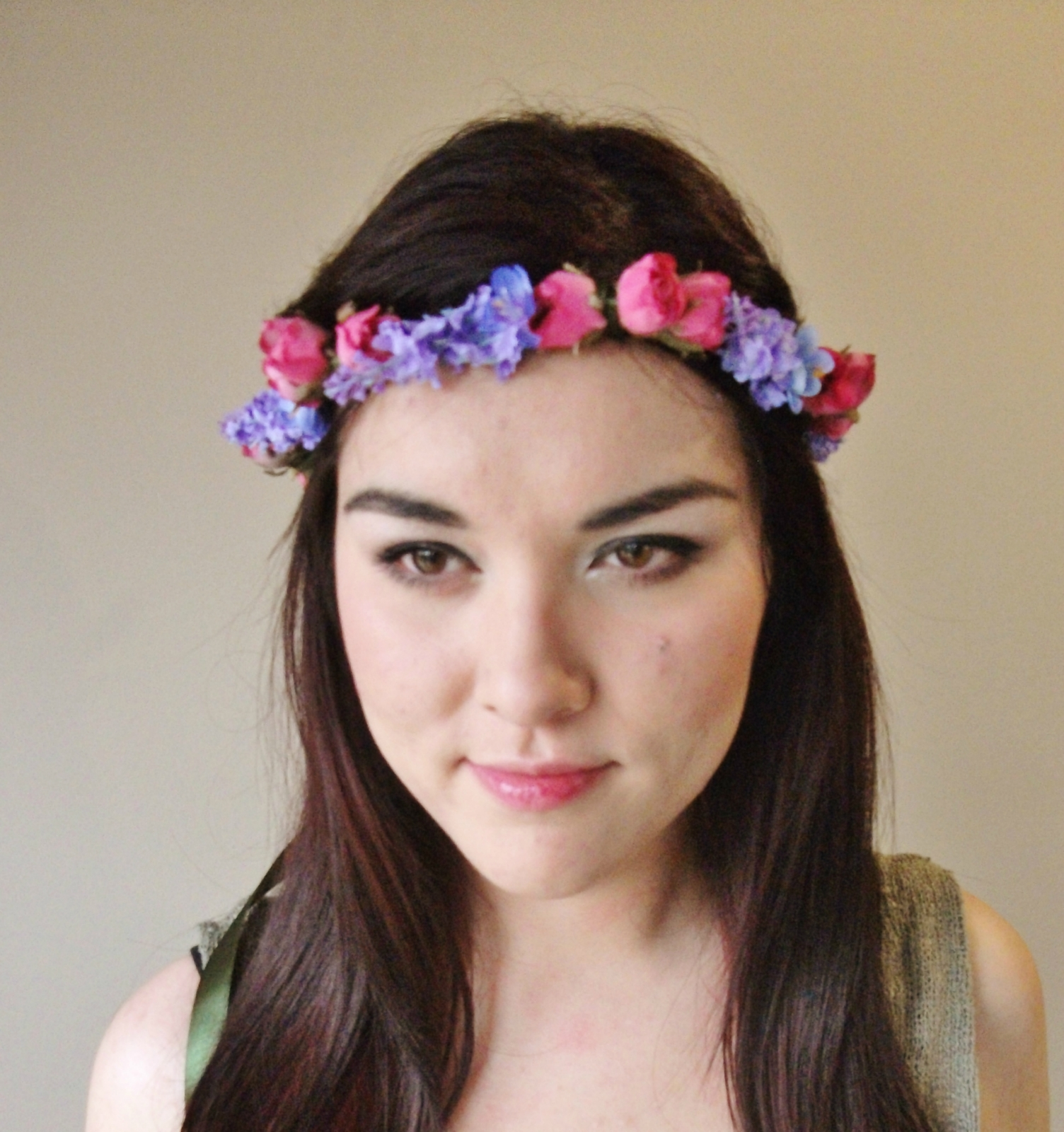 Rose Bud & Lavender Flower Crown Floral Wreath Flower Crown Floral Cro
