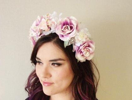 Woodland Roses - floral headband 13909050c77