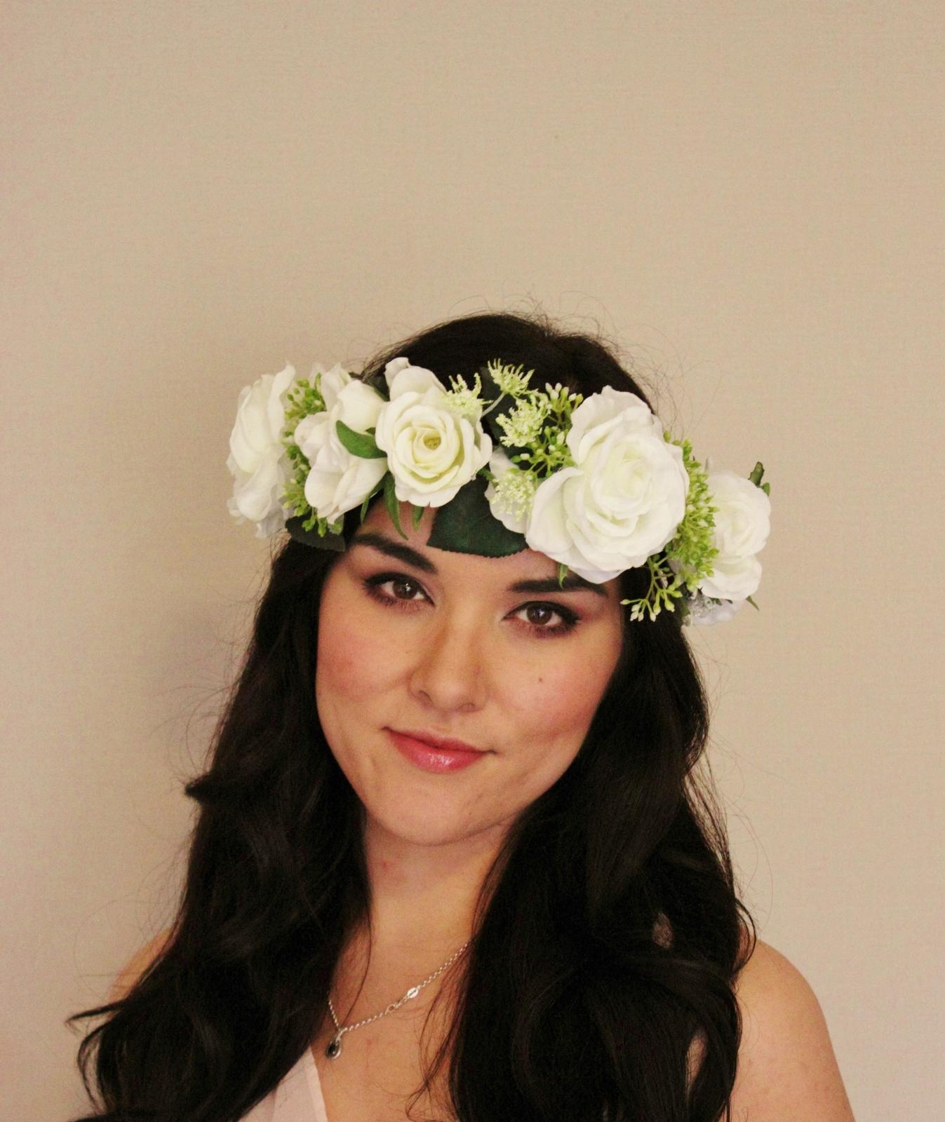 White rose woodland elder berry floral crown floral headband previous white rose woodland elder izmirmasajfo