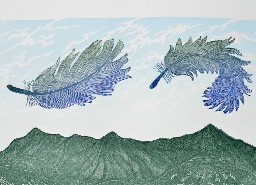 East Wind, Pakanae - print by Allan Gale