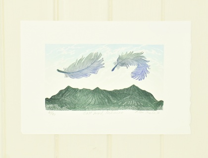 wood block print East Wind, Pakanae by Allan Gale