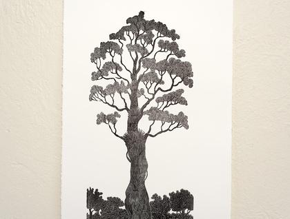 Rata print by Allan Gale