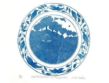 Waiotemarama Willow Pattern print by Allan Gale