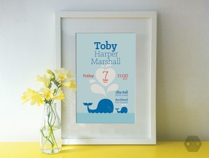 Baby Birth Details Print - A4