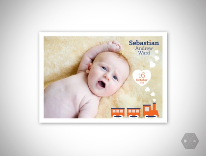 Baby Announcement & Thank You Postcards - Set of 50 Postcards