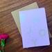 Greeting Card - Enjoy - Metallic Silver Print