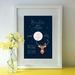 Baby Birth Details - Deer Print - A4