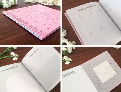 Baby Girl Record Book - Your First Year