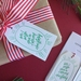 Letterpress Christmas Gift Tags - 6 Pack