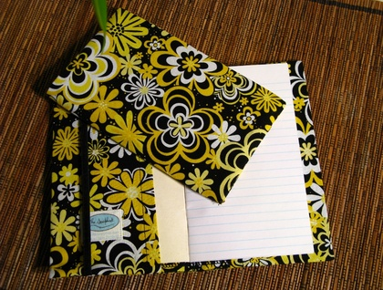 Yellow and Black Daisies Notebook Cover