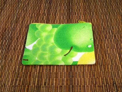 Green Apples and Grapes Coin Purse