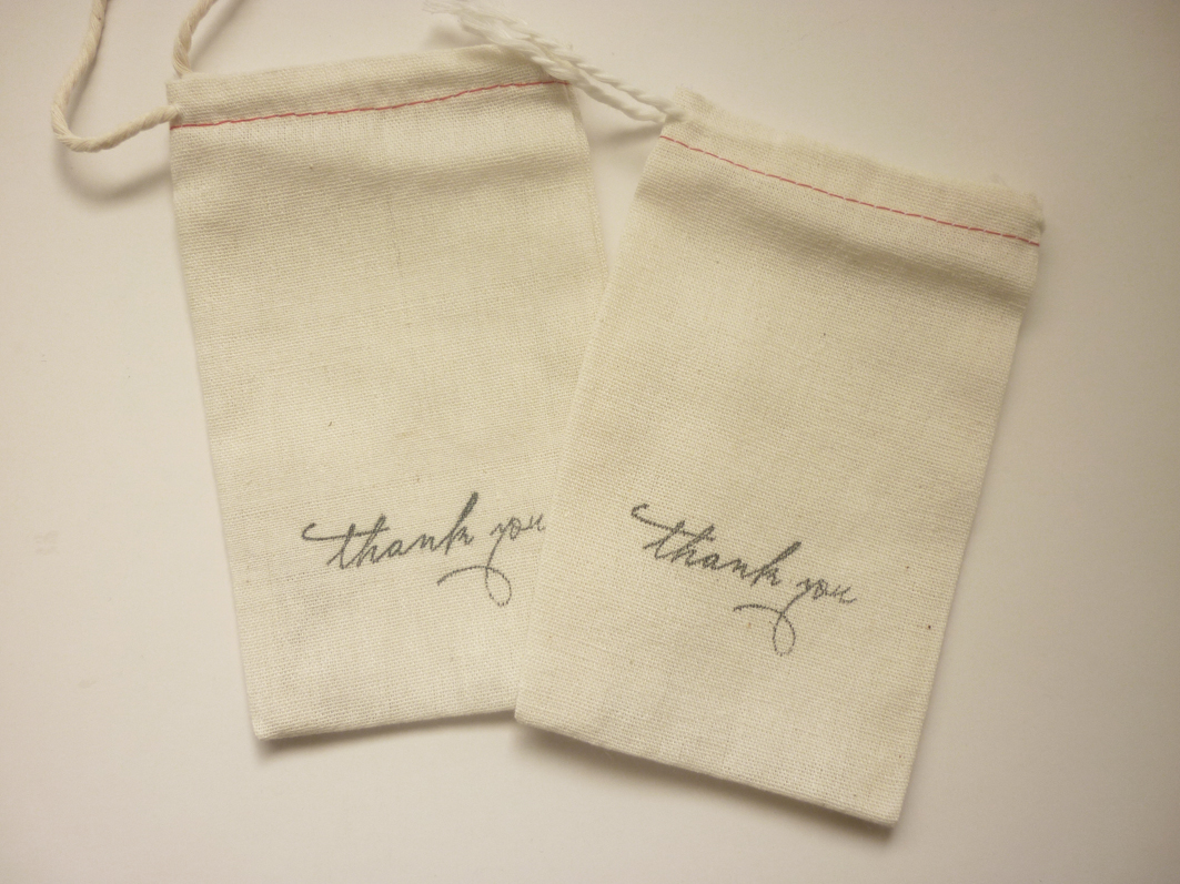 Small Fabric Drawstring Bags