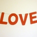 LOVE large letter bunting - pick your colour