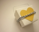 White takeaway box with yellow heart and twine - set of 5