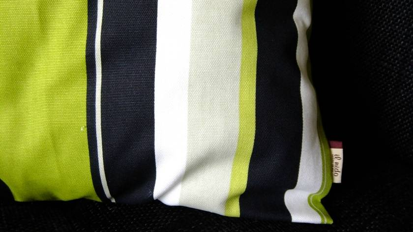 Stripe cotton cushion