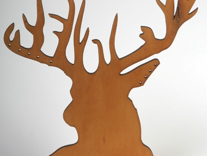 Stags head jewellery stand