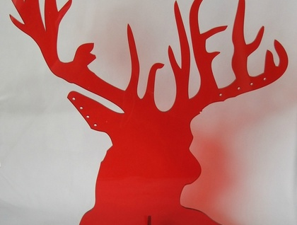 Acrylic Stags head jewellery stand