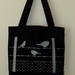 Birds on Fence Tote Bag
