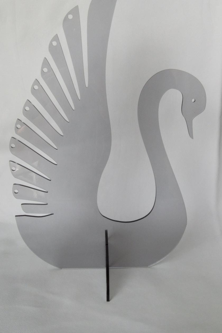 Acrylic Swan jewellery stand