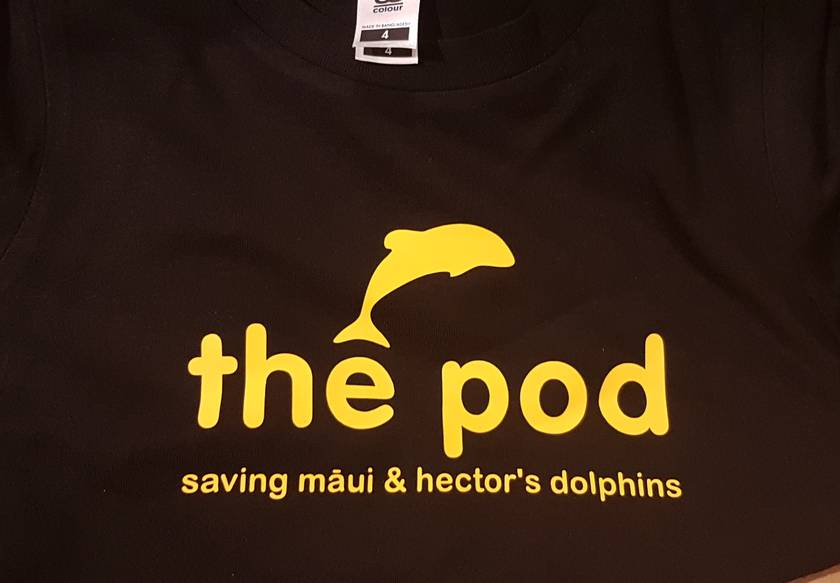 Māui and Hector's dolphin t-shirt