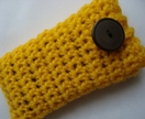 Yellow Mobile Phone Pouch