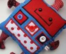 Blue Robot Softie