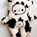 Softie Bear (cow print)