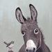 A4 Donkey Art Print