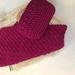 Cotton Wash Cloth & Soap Pocket Set - Magenta
