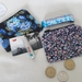 Coin Purses in Blue Floral Fabrics