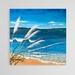 Original Hand Painted Acrylic on Canvas, 76.2 x 76.2cm - Toi Toi Beach