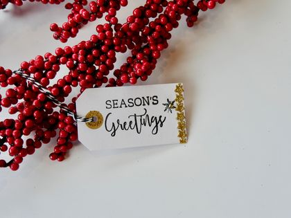 Season's Greetings Christmas Tags