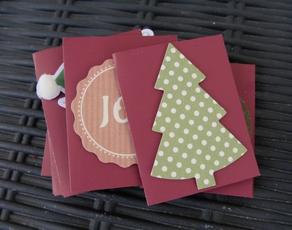12 Small Red Christmas Cards