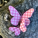 3D Paper Butterfly's with pink glitter