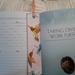 Bookmark - Handmade 100 percent cotton fabric Pink with Hummingbirds Butterflies Dragonflies