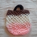Market Bag - Neapolitan Ice Cream Colours (Vanilla, Chocolate, Strawberry Pink)