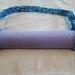 Yoga Mat Carrier Strap (Adjustable) - Blue, Hand Crocheted