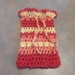 Fermentation Cosie - Crocheted Cotton Blend, Red, Orange and Yellow.