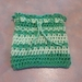 Fermentation Cosie - Crocheted Cotton Blend, Light Green and Pea Green.