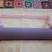 Yoga Mat Carrier Strap (Adjustable) - Light Pink Cotton Blend, Hand Crocheted.